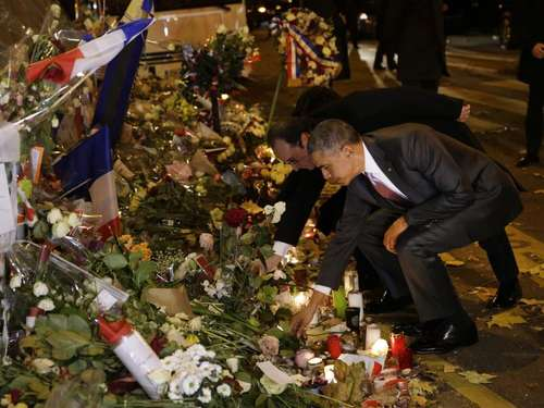 Obama und Hollande gedenken der Terroropfer in Paris