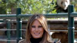 Melania Trump besucht Pandabären in China