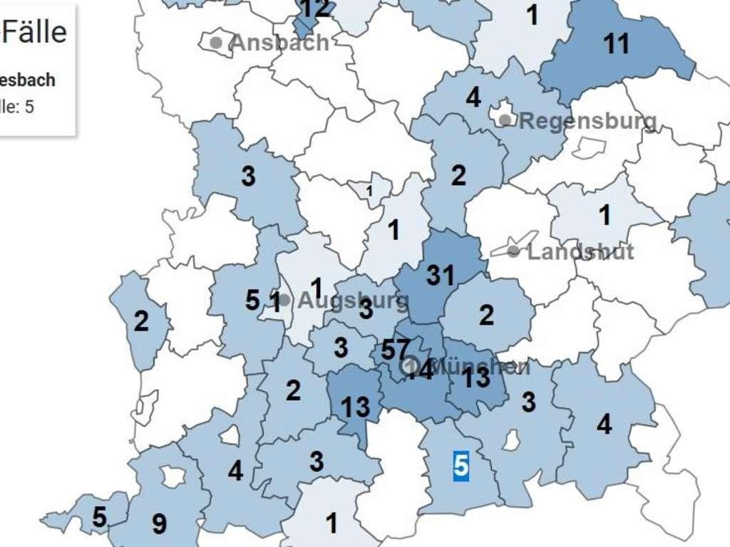 Corona Fälle Bayern Landkreise